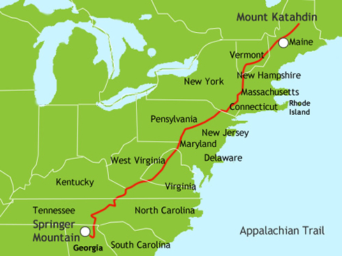 Congratulations Tripper And Slipper On Completing Your Journey - Us map with appalachian mountains